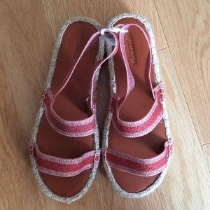 d6ead71b6d7 American Eagle Outfitters Shoes - AEO DOUBLE BAND FLATFORM ESPADRILLE SANDAL